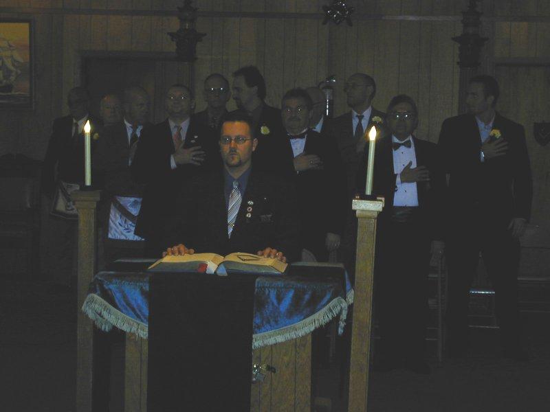 Lodge Installation, December, 2006