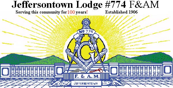Welcome to the *new* web site of Jeffersontown Lodge #774 F&AM! The Lodge  is located in Jeffersontown Kentucky, on the East side of Louisville, ...